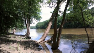 This view looks across the Wabash River from Historic Fort Ouiatenon Park to the probable location of the Wea village.