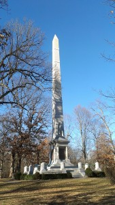 Tippecanoe Battlefield Park is a national historic landmark that features an 85-foot marble obelisk memorializing the battle and U.S. General William Henry Harrison.
