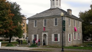 The Indiana General Assembly met in November 1816 in the new Federal-style Capitol in Corydon.