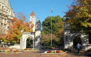 The Sample Gates are perhaps the most familiar symbol of Indiana University, serving as the main entrance to the historic section of campus known as Old Crescent.