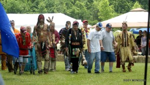 Elders of the Miami Nation of Indiana kick off the 2015 June Powwow with the Grand Entry ceremony. Photo courtesy Miami Nation.