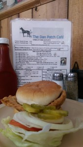 The breaded tenderloin is a favorite on the menu of the Dan Patch Café in Oxford.