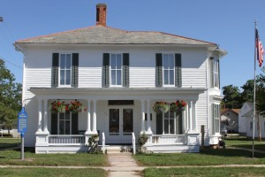 The museum maintains Thomas Marshall's home much like it would have looked in 1900. Photo courtesy of Whitley County Historical Museum.