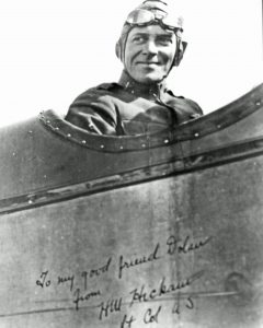Photos of Horace Hickam and memorabilia recalling his contributions to the Air Force are on display at the Owen County Heritage and Cultural Center.